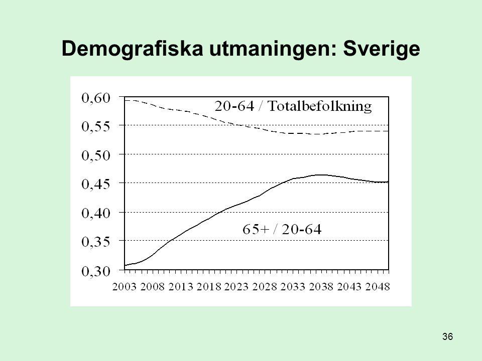 Demografiska utmaningen: Sverige