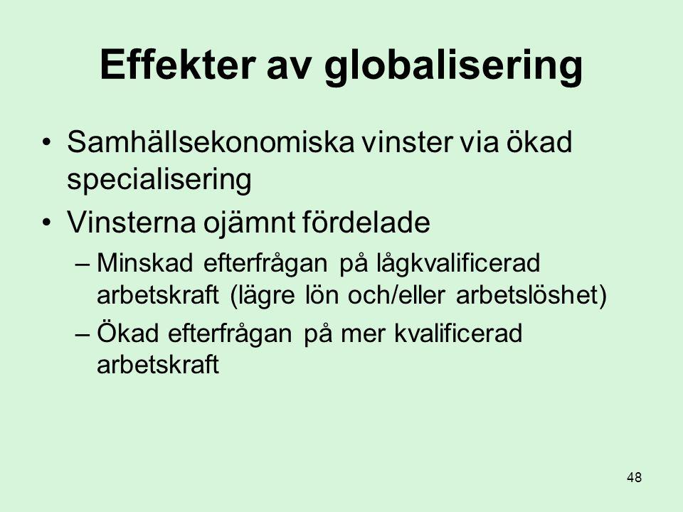 Effekter av globalisering