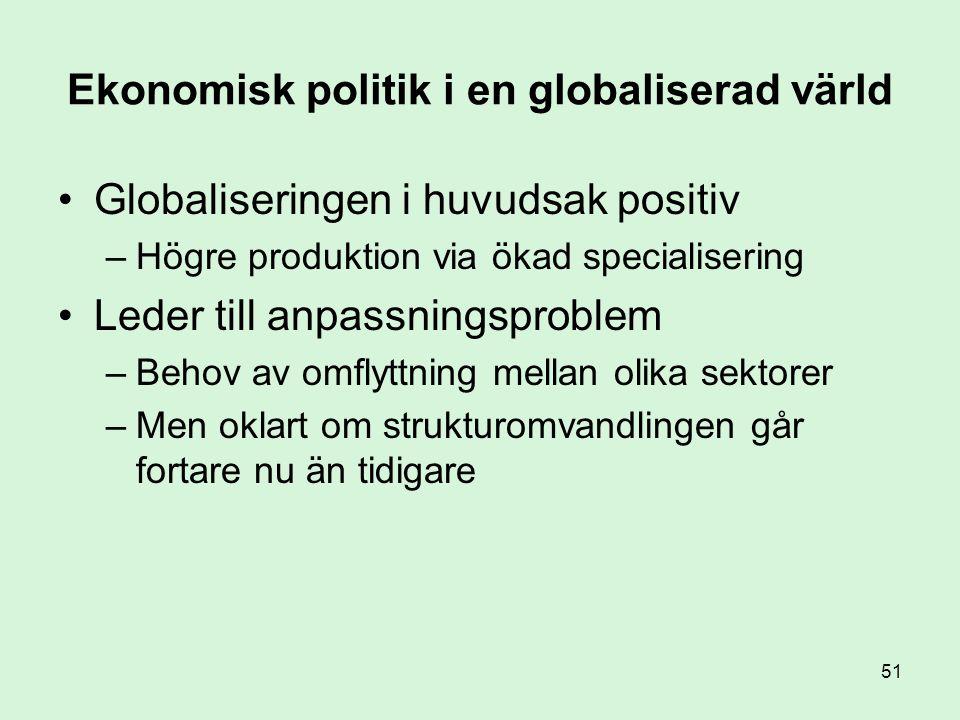 Ekonomisk politik i en globaliserad värld