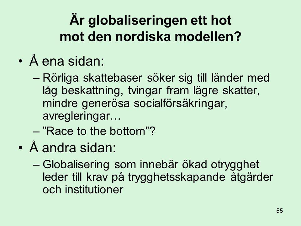 Är globaliseringen ett hot mot den nordiska modellen