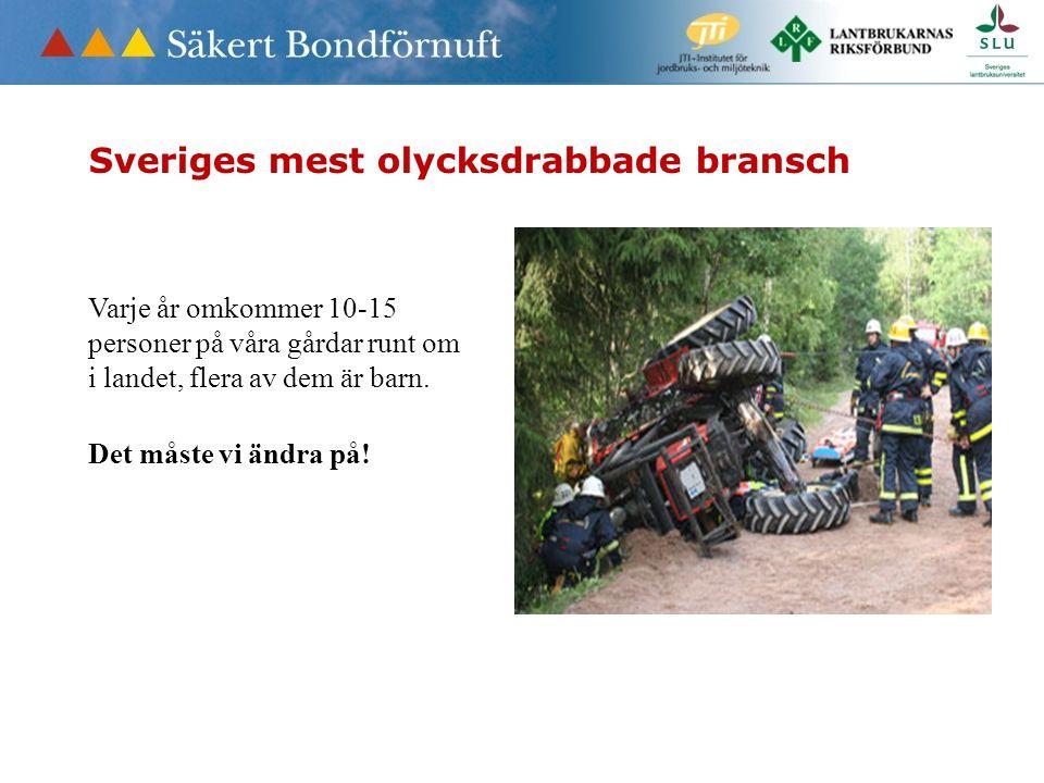 Sveriges mest olycksdrabbade bransch