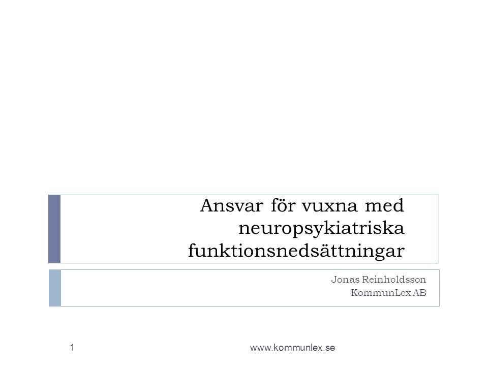 Ansvar för vuxna med neuropsykiatriska funktionsnedsättningar