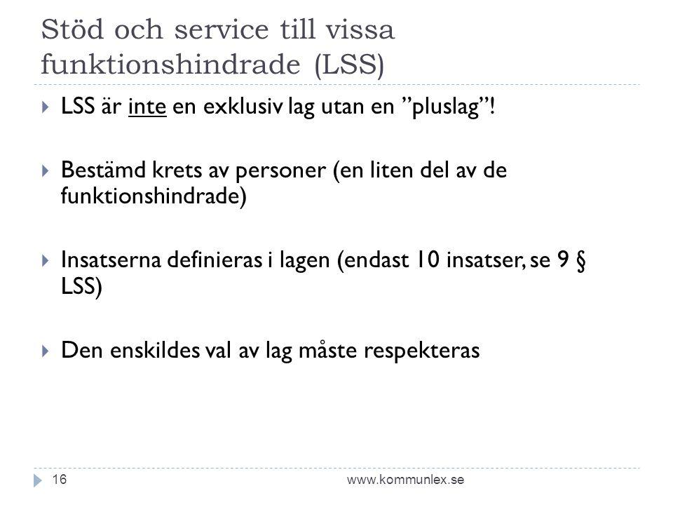 Stöd och service till vissa funktionshindrade (LSS)