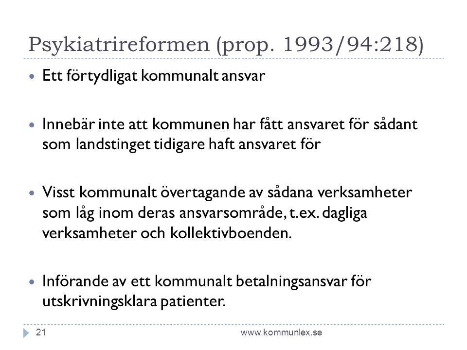 Psykiatrireformen (prop. 1993/94:218)