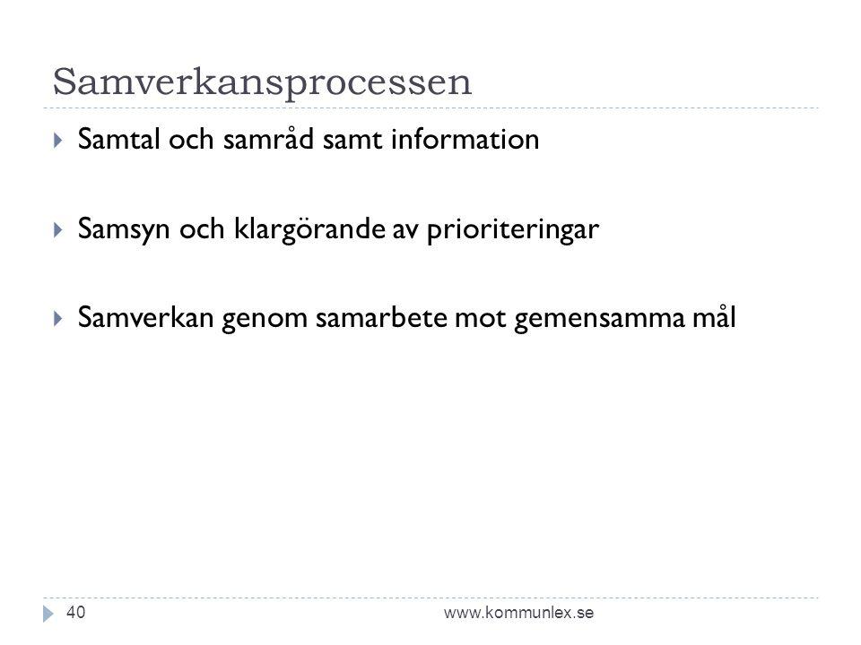 Samverkansprocessen Samtal och samråd samt information