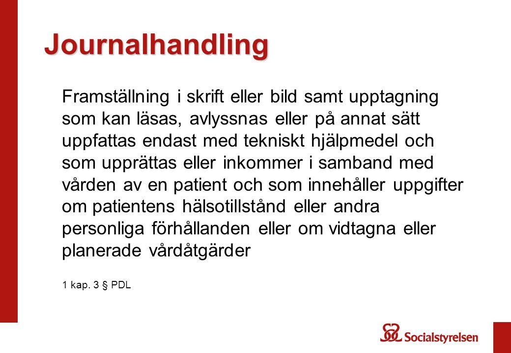 Journalhandling