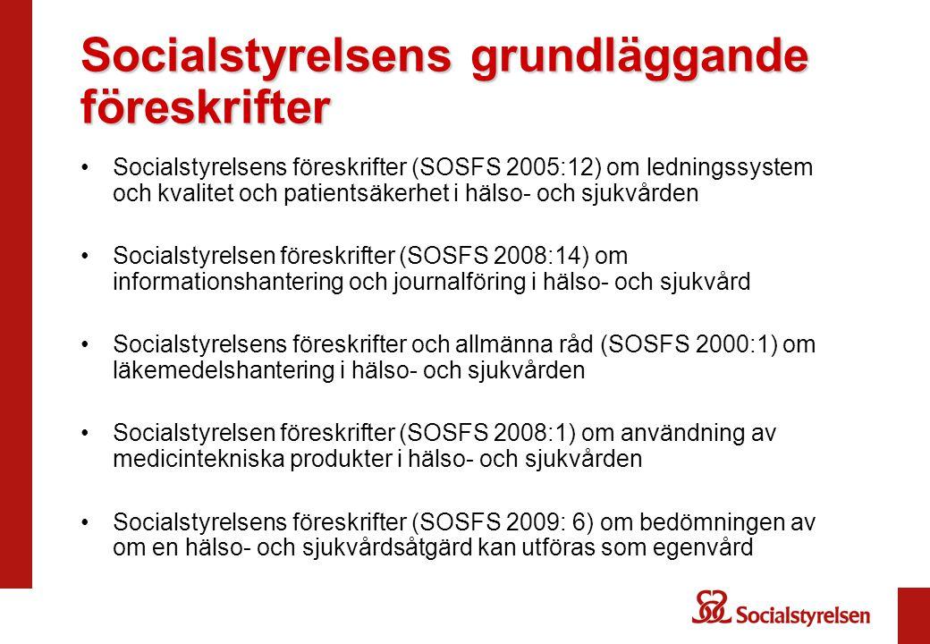 Socialstyrelsens grundläggande föreskrifter