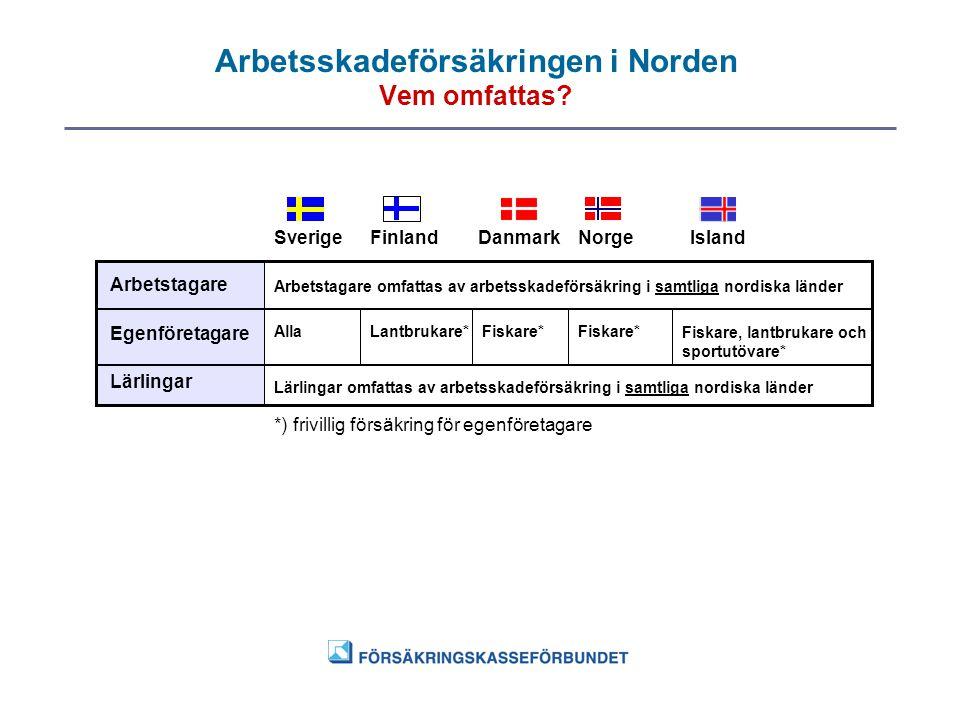 Arbetsskadeförsäkringen i Norden Vem omfattas