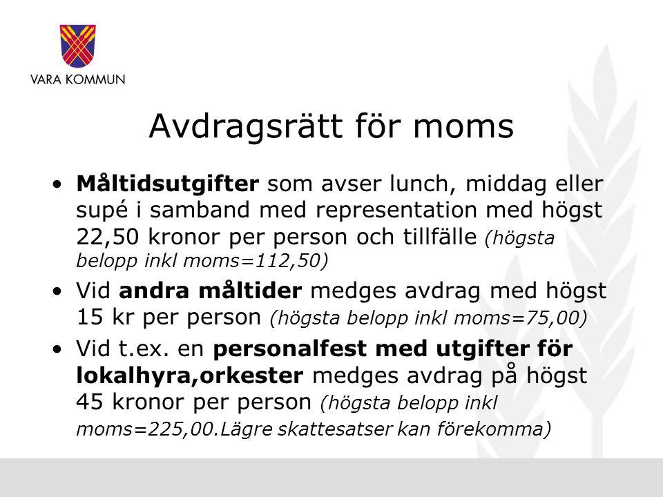 Avdragsrätt för moms