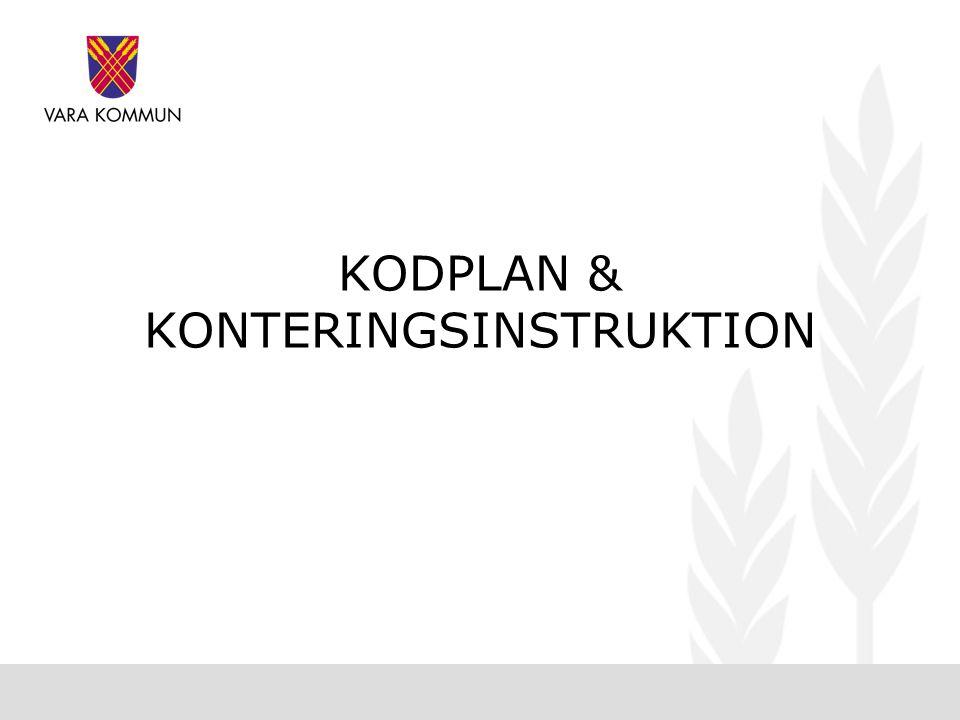 KODPLAN & KONTERINGSINSTRUKTION