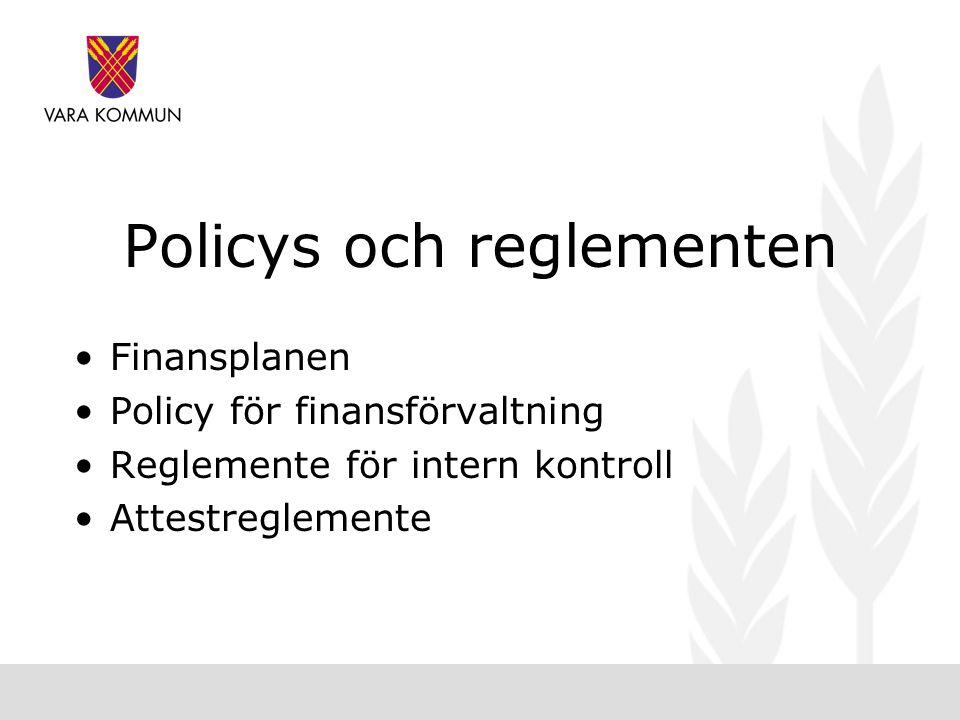 Policys och reglementen
