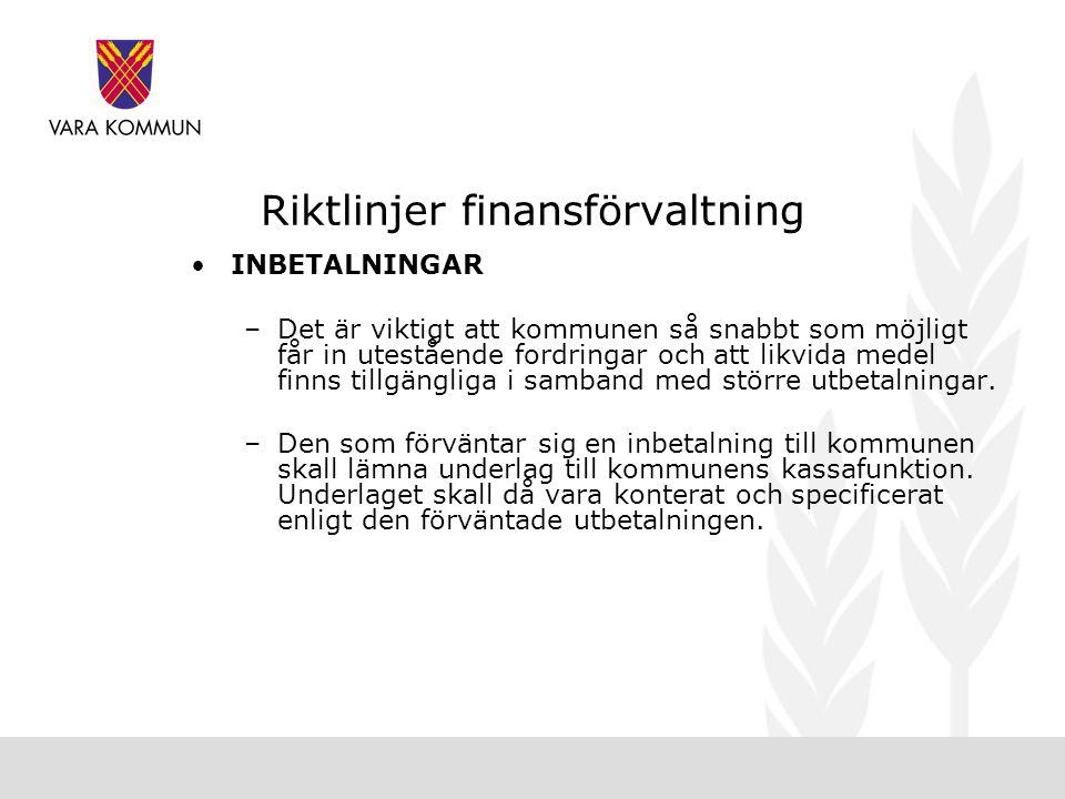 Riktlinjer finansförvaltning
