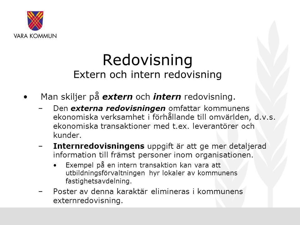 Redovisning Extern och intern redovisning