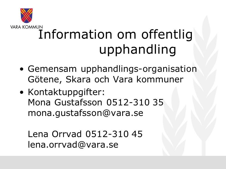 Information om offentlig upphandling