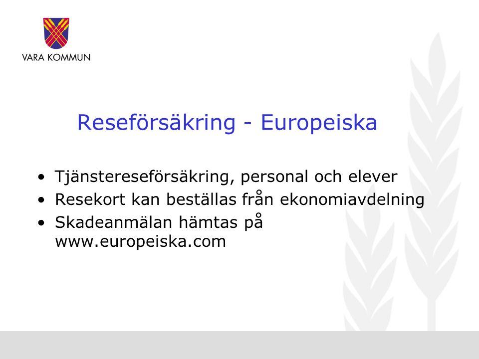 Reseförsäkring - Europeiska