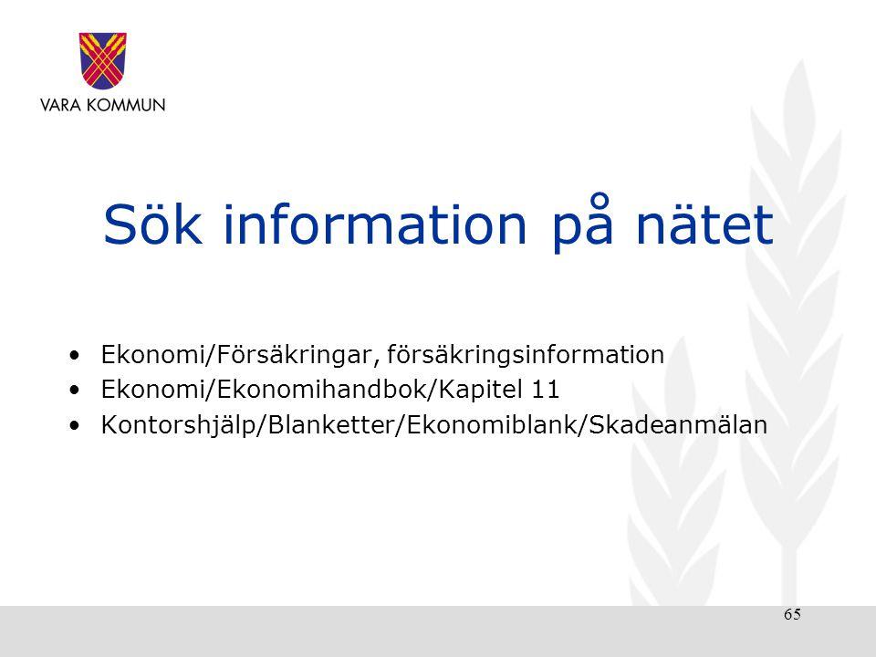 Sök information på nätet