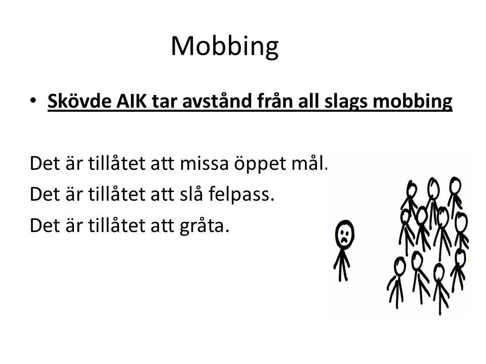 Mobbing Skövde AIK tar avstånd från all slags mobbing