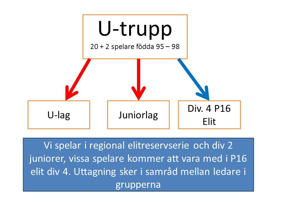 U-trupp U-lag Juniorlag Div. 4 P16 Elit