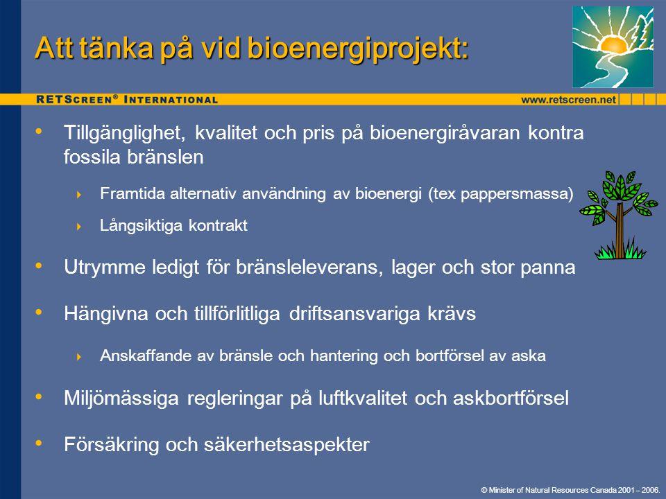 Att tänka på vid bioenergiprojekt:
