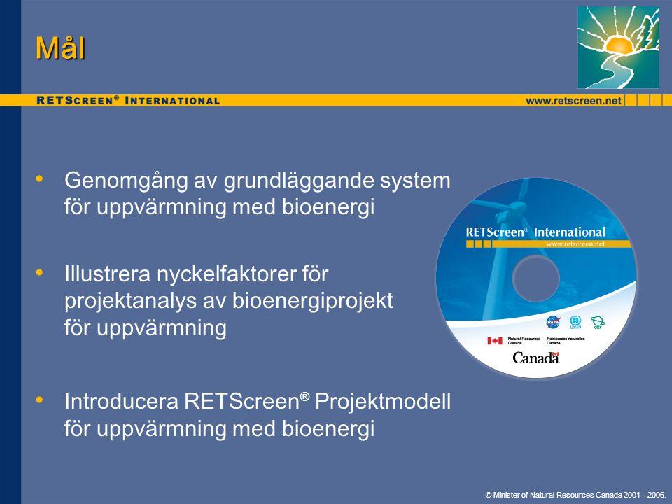 Mål Genomgång av grundläggande system för uppvärmning med bioenergi