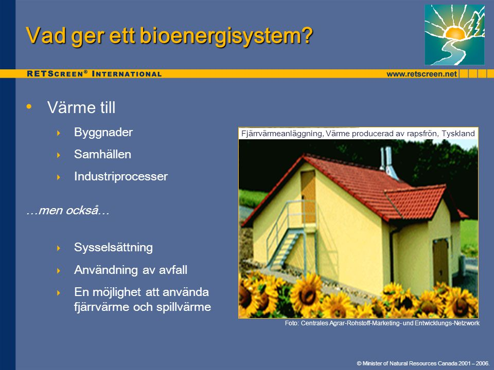 Vad ger ett bioenergisystem