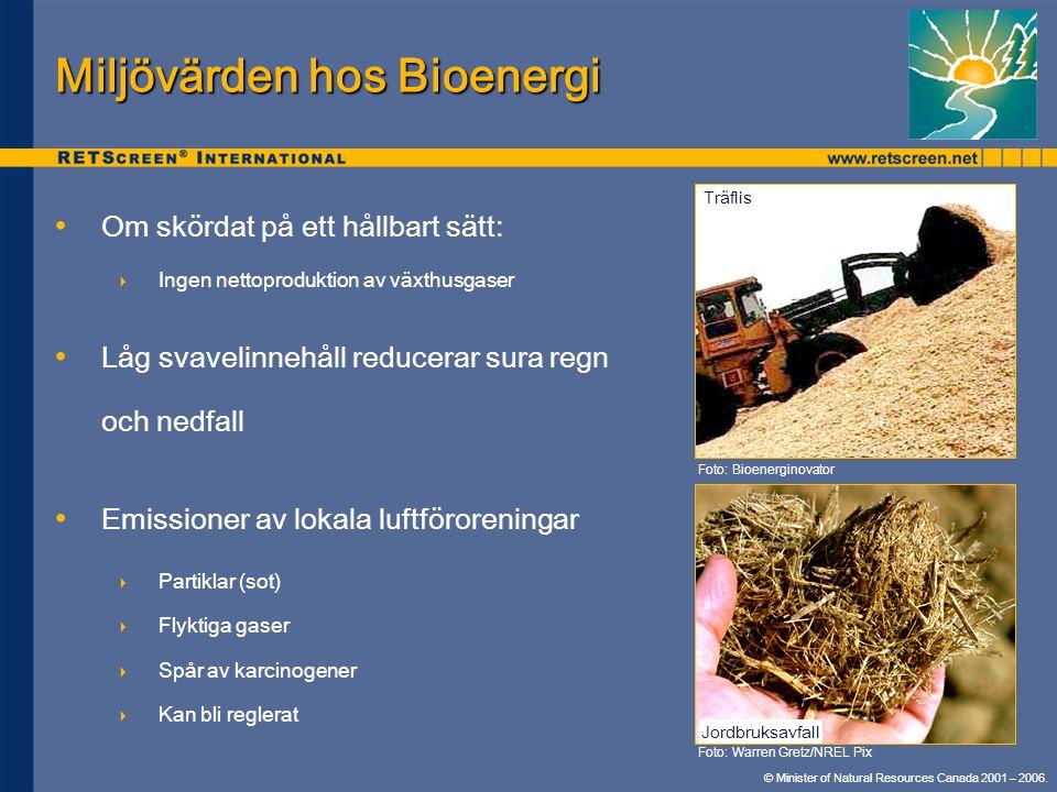 Miljövärden hos Bioenergi