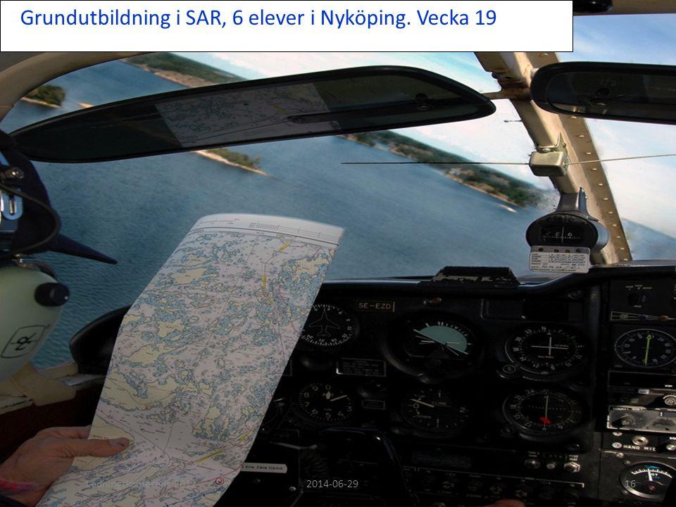 Grundutbildning i SAR, 6 elever i Nyköping. Vecka 19