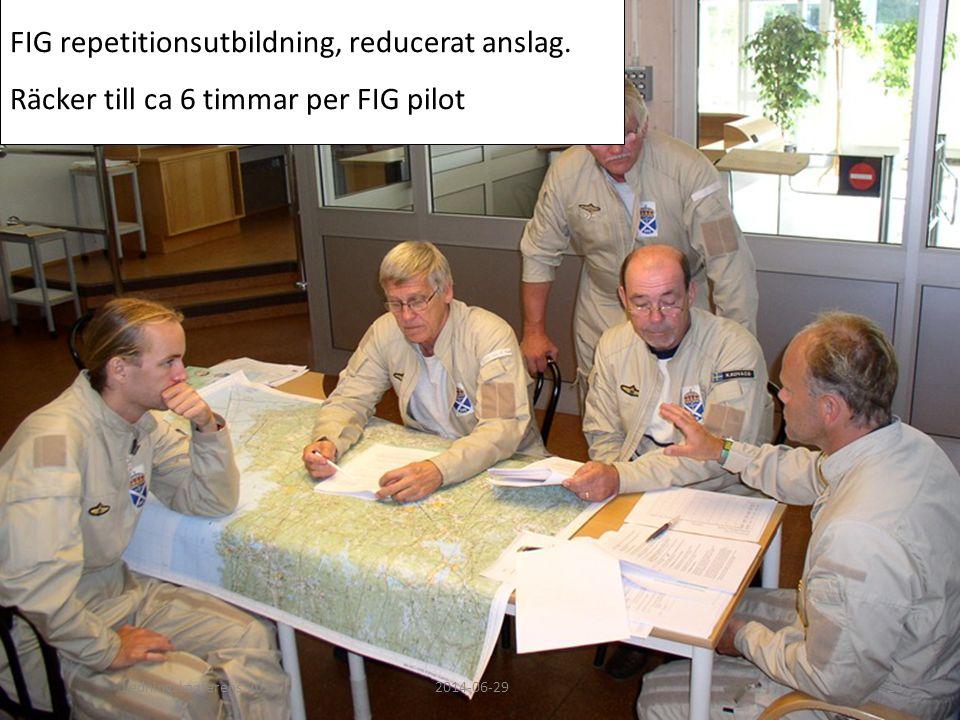 FIG repetitionsutbildning, reducerat anslag.
