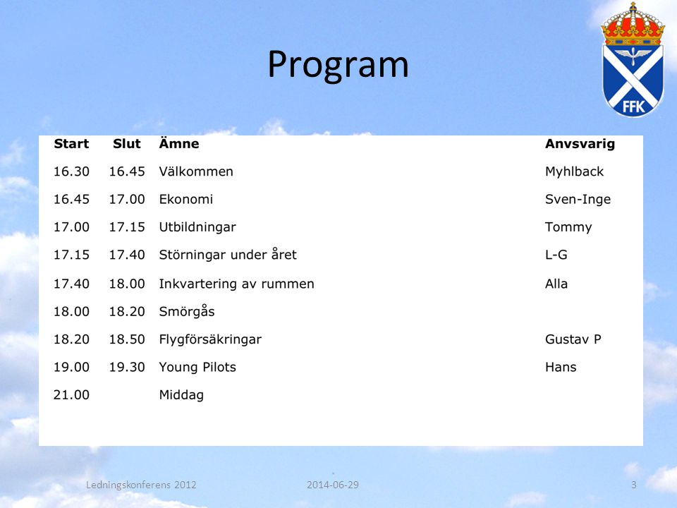 Program Ledningskonferens 2012 2017-04-03