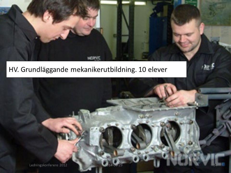 HV. Grundläggande mekanikerutbildning. 10 elever