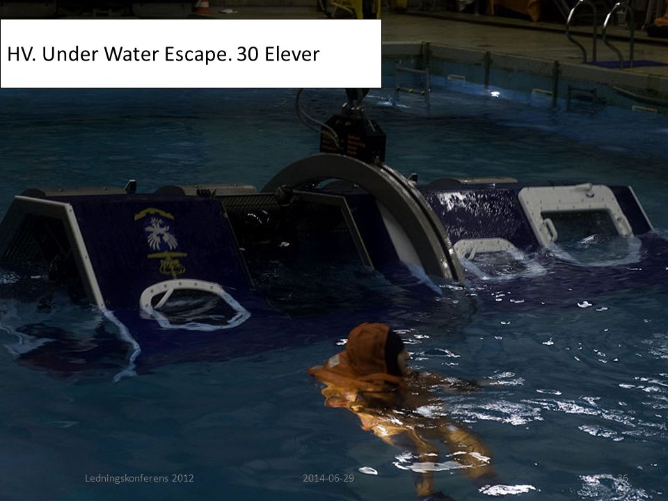 HV. Under Water Escape. 30 Elever