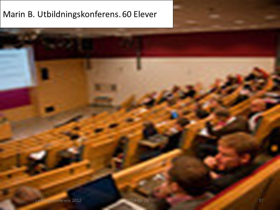 Marin B. Utbildningskonferens. 60 Elever