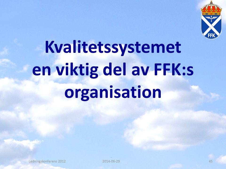 Kvalitetssystemet en viktig del av FFK:s organisation