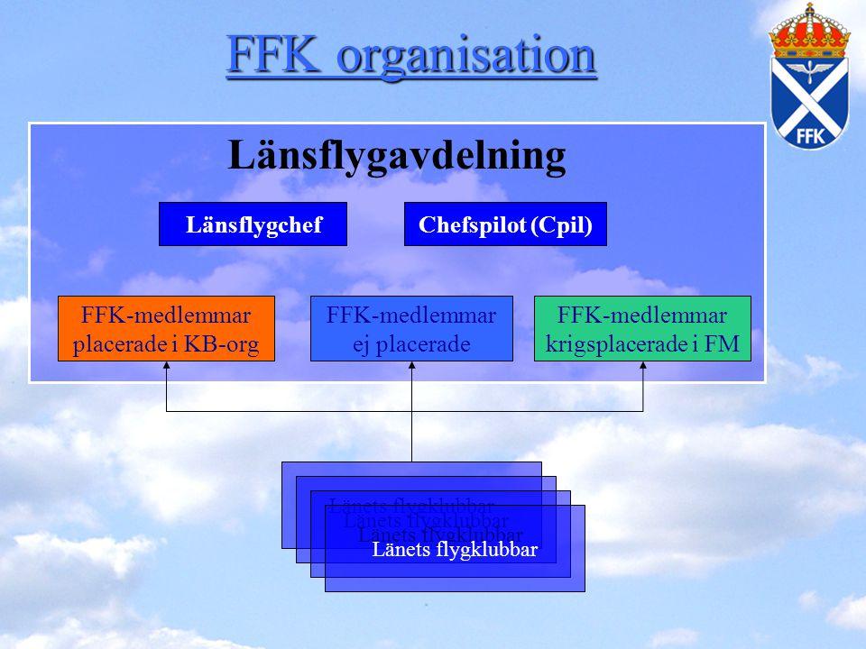 FFK organisation Länsflygavdelning Länsflygchef Chefspilot (Cpil)