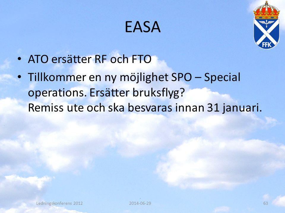 EASA ATO ersätter RF och FTO