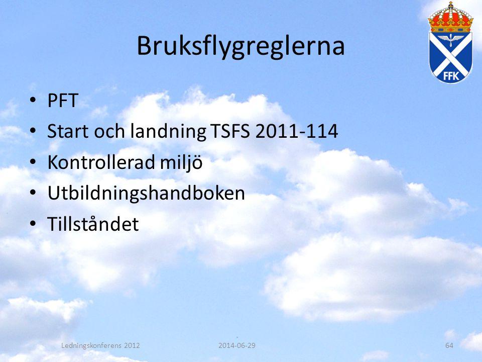 Bruksflygreglerna PFT Start och landning TSFS 2011-114