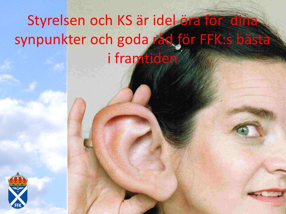 Styrelsen och KS är idel öra för dina synpunkter och goda råd för FFK:s bästa i framtiden