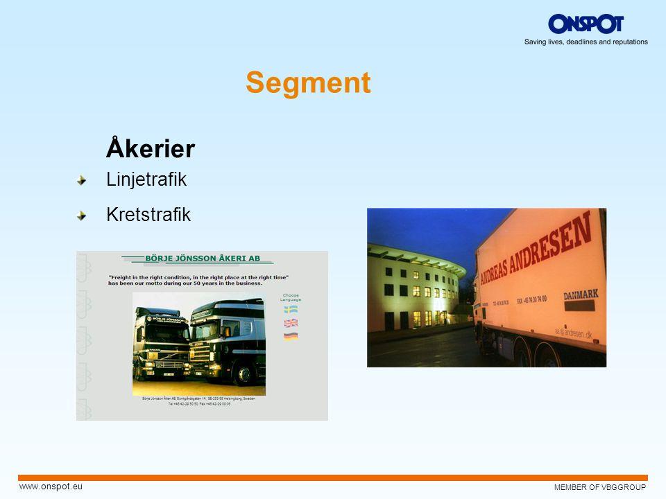 Segment Åkerier Linjetrafik Kretstrafik