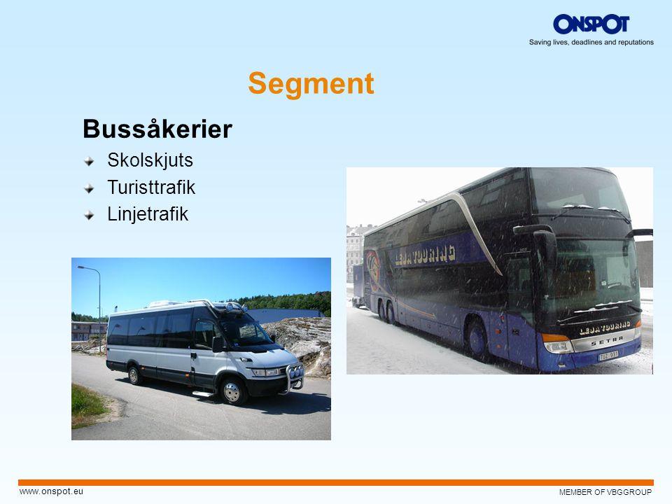 Segment Bussåkerier Skolskjuts Turisttrafik Linjetrafik