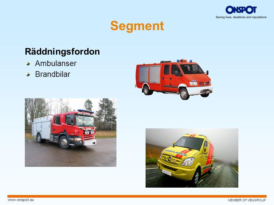 Segment Räddningsfordon Ambulanser Brandbilar