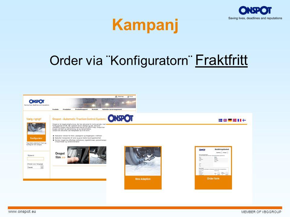 Kampanj Order via ¨Konfiguratorn¨ Fraktfritt