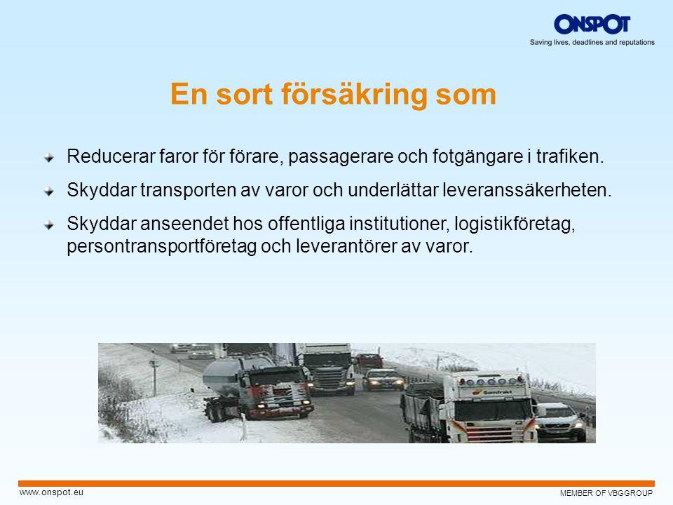 En sort försäkring som Reducerar faror för förare, passagerare och fotgängare i trafiken.