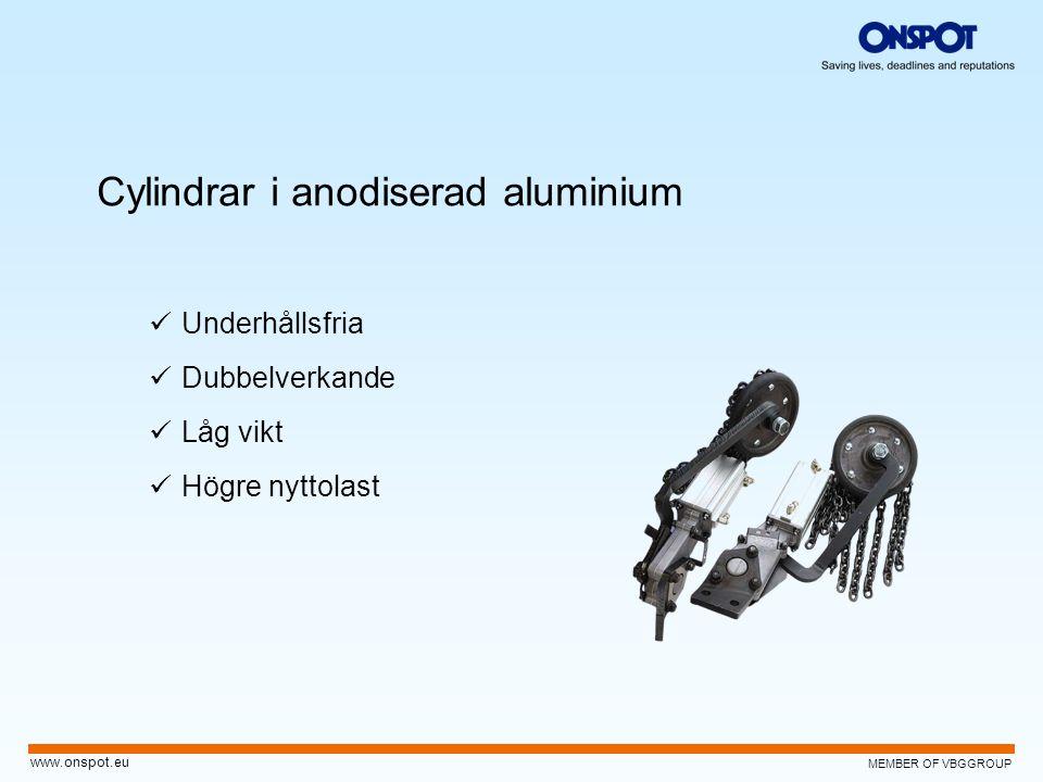 Cylindrar i anodiserad aluminium