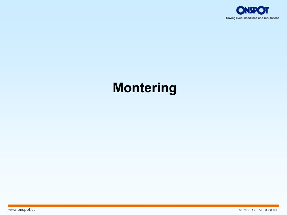 Montering