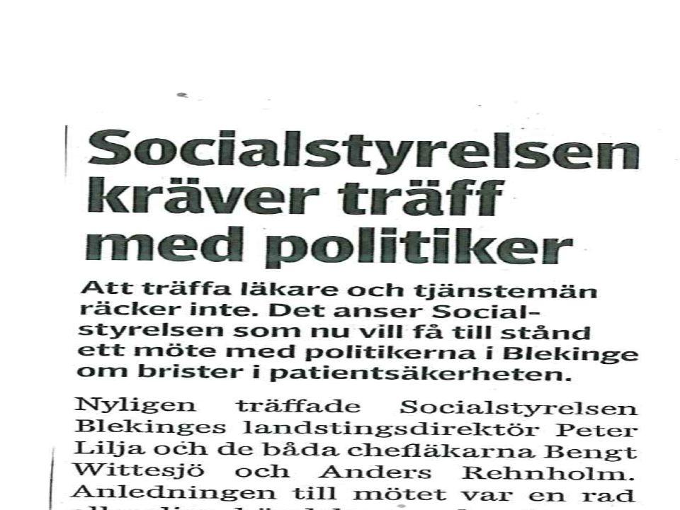 Socialstyrelsen kräver träff med politiker