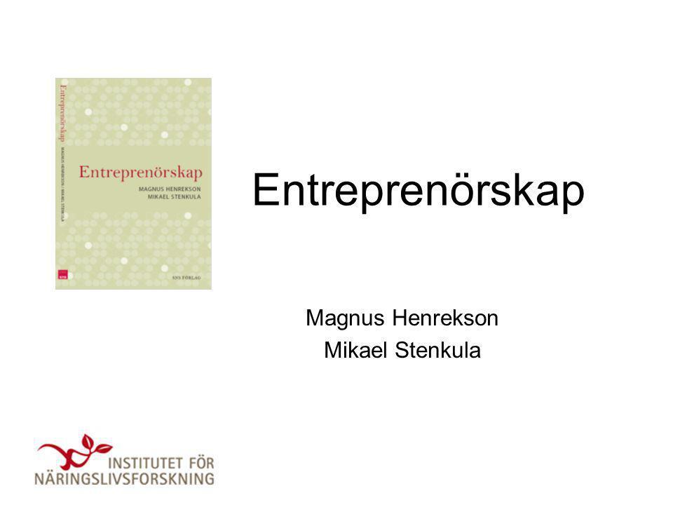 Magnus Henrekson Mikael Stenkula