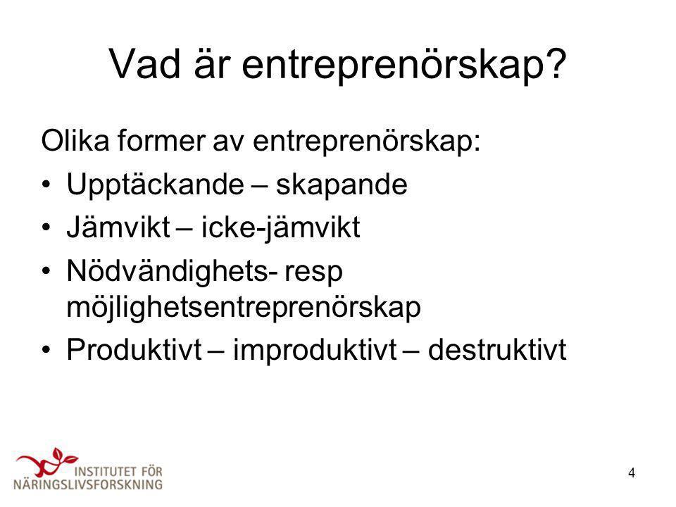 Vad är entreprenörskap
