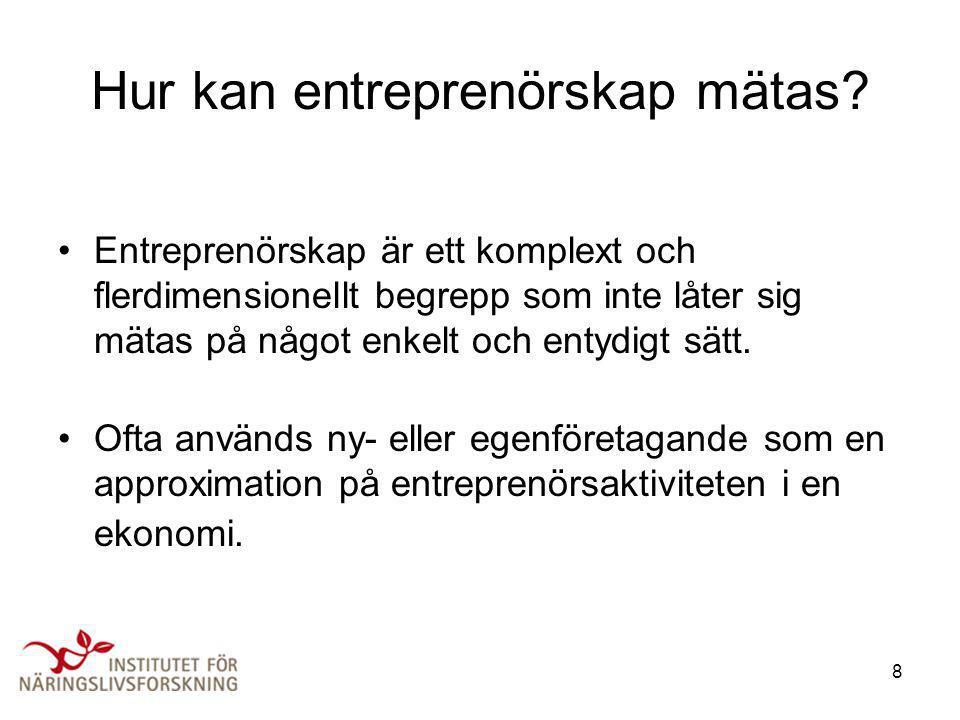 Hur kan entreprenörskap mätas