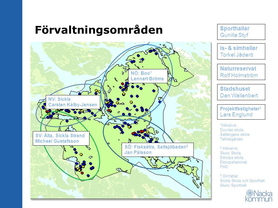 Förvaltningsområden Sporthallar Gunilla Styf Is- & simhallar