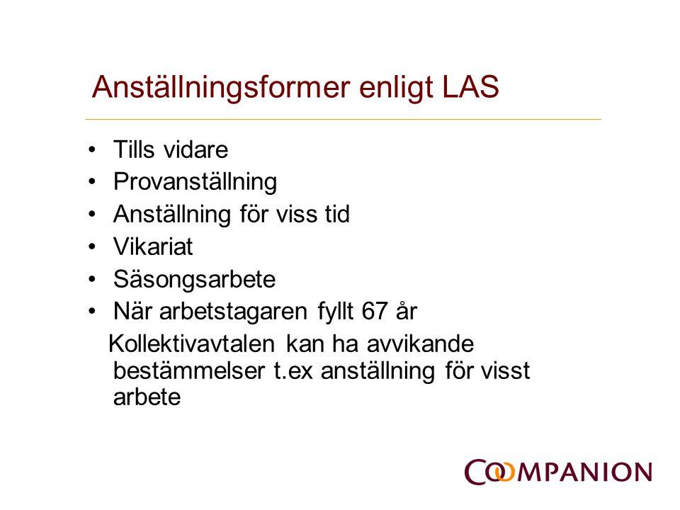 Anställningsformer enligt LAS